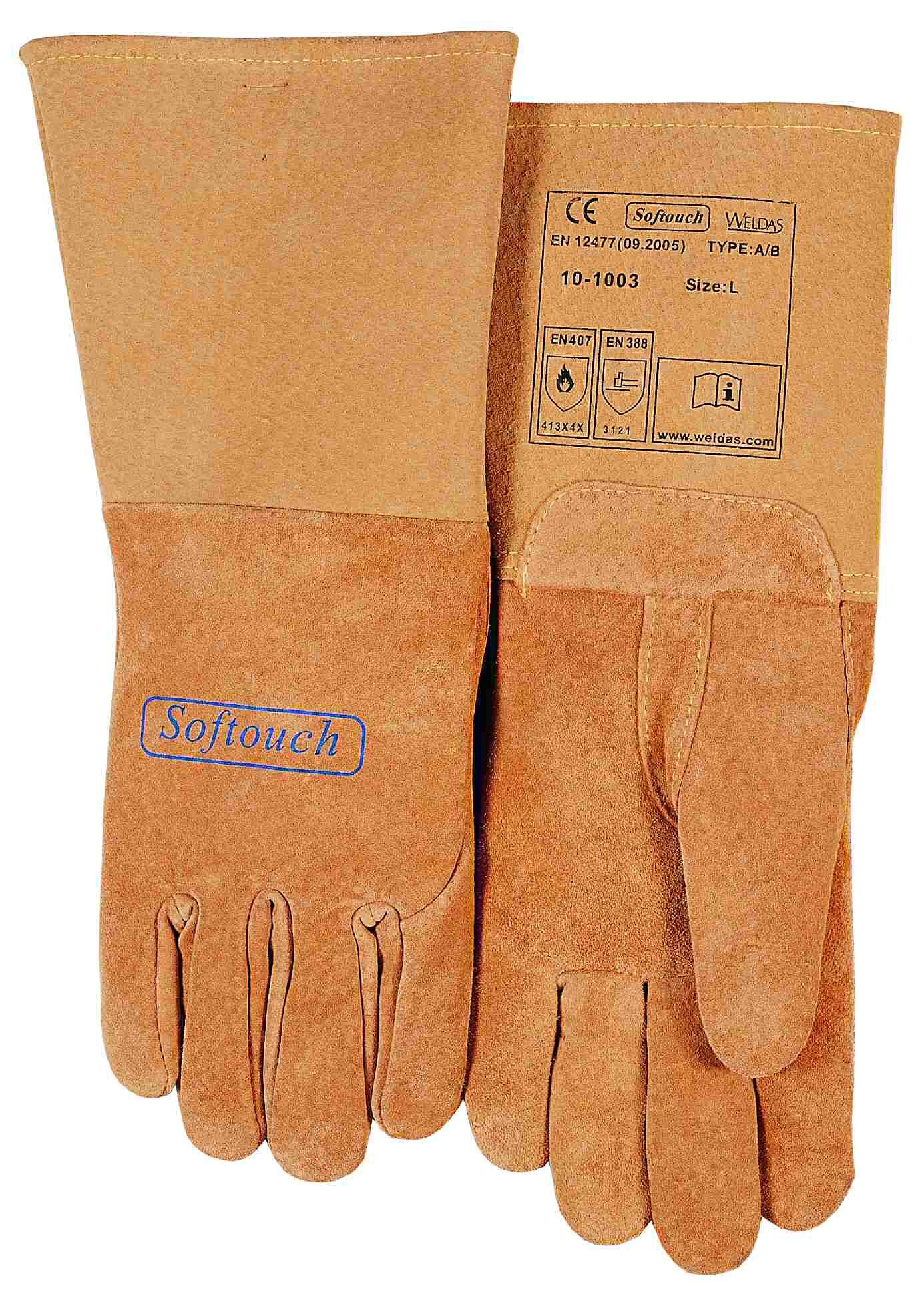 10-1003-SOFTouch™ mănuşă de sudură din piele box de porc