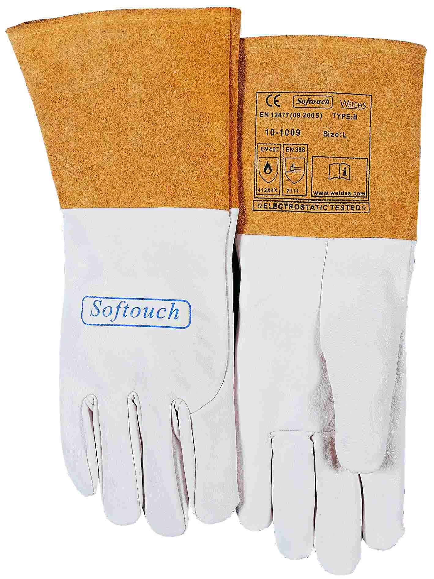 10-1009-SOFTouch™ mănuşă de sudură din piele box uşoara de capră