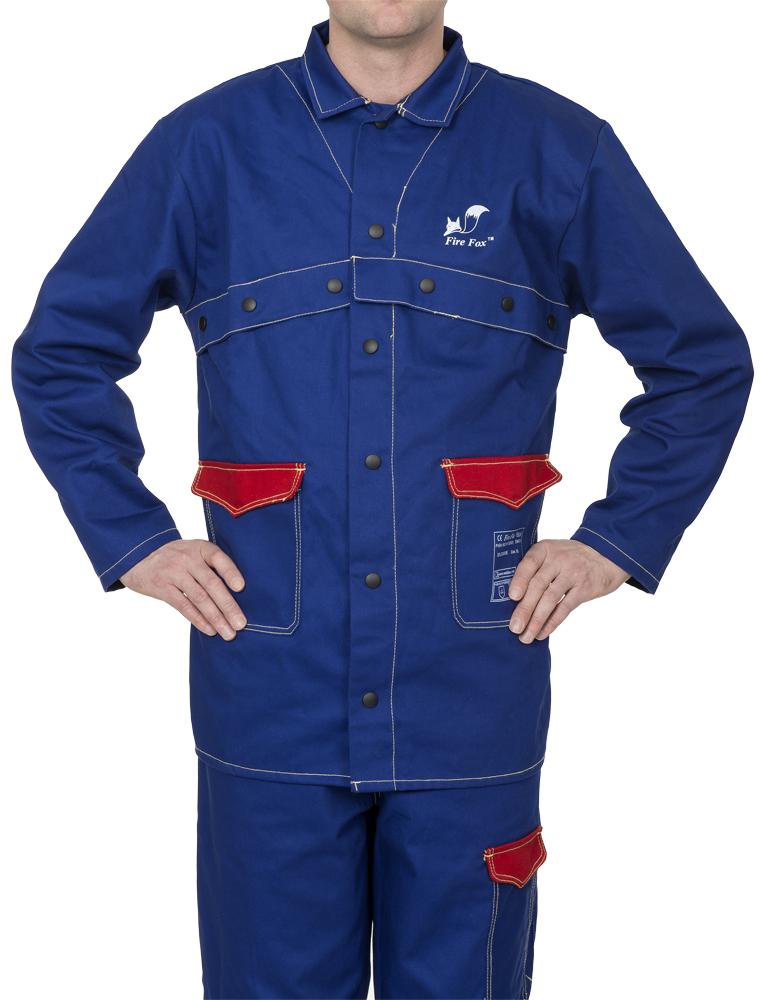 33-2300 Fire Fox™ jachetă de sudură din bumbac ignifug albastru