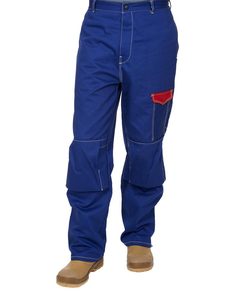 33-2600 Fire Fox™ pantalon de sudură din bumbac ignifug albastru