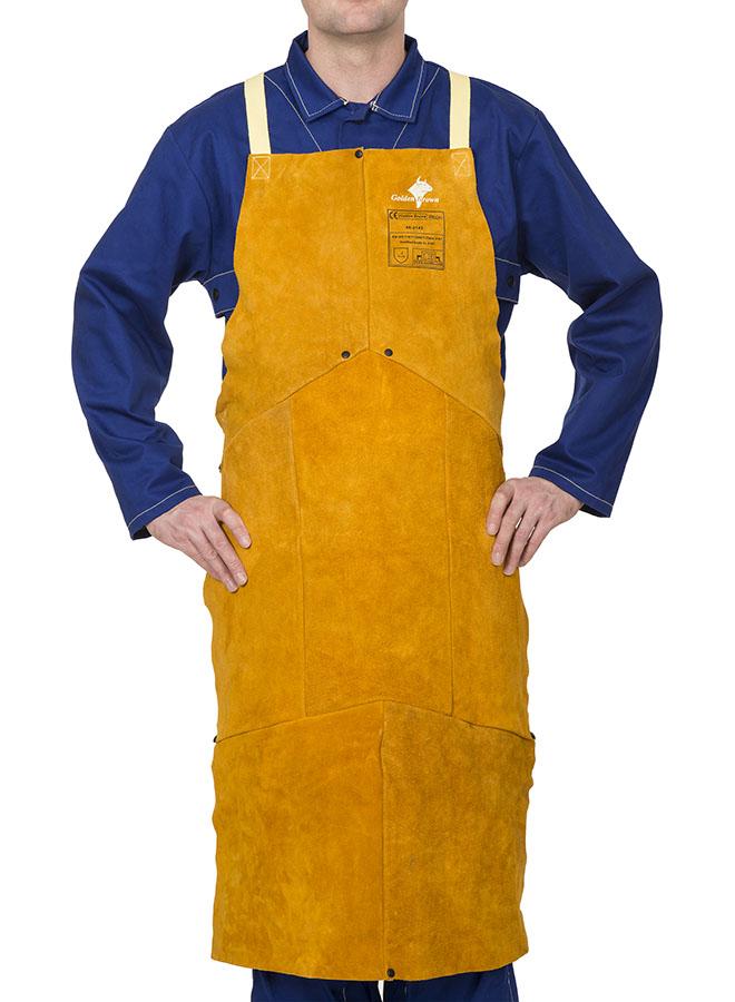 44-21.. Golden Brown™ şorţ de sudură din şpalt de vită (44-2136, 44-2142, 44-2142 W)
