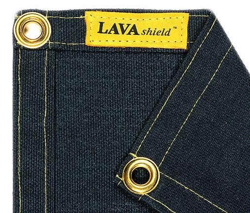 50-2368/2468 LAVAshield® pătură de sudură fibră de sticlă neagră 538°C. 174 x 234 cm.