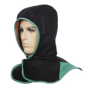 23-7766 Glugă ignifugă neagră pentru vreme rece cu căptușeală COMFOflex®
