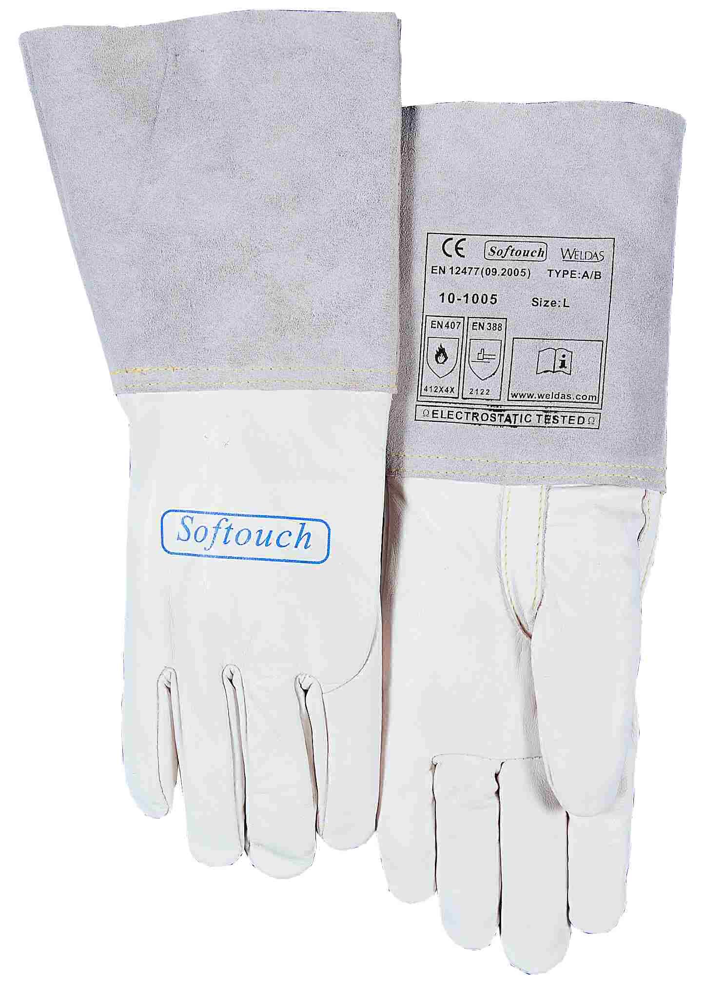 10-1005-SOFTouch™ mănuşă de sudură din piele box de viţel