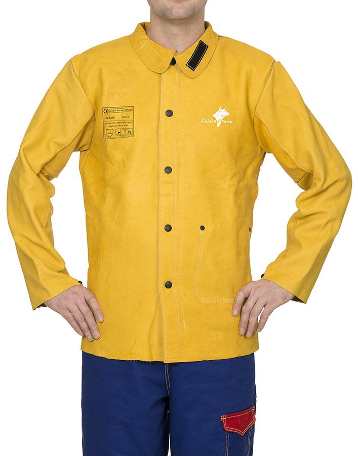 44-5530-Golden Brown™ jachetă de sudură din piele box de vită