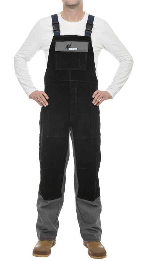 38-4340 Arc Knight™ pantaloni de sudură cu bretele, bumbac ignifug 520 gr./m2 cu întărituri din piele șpalt bovină