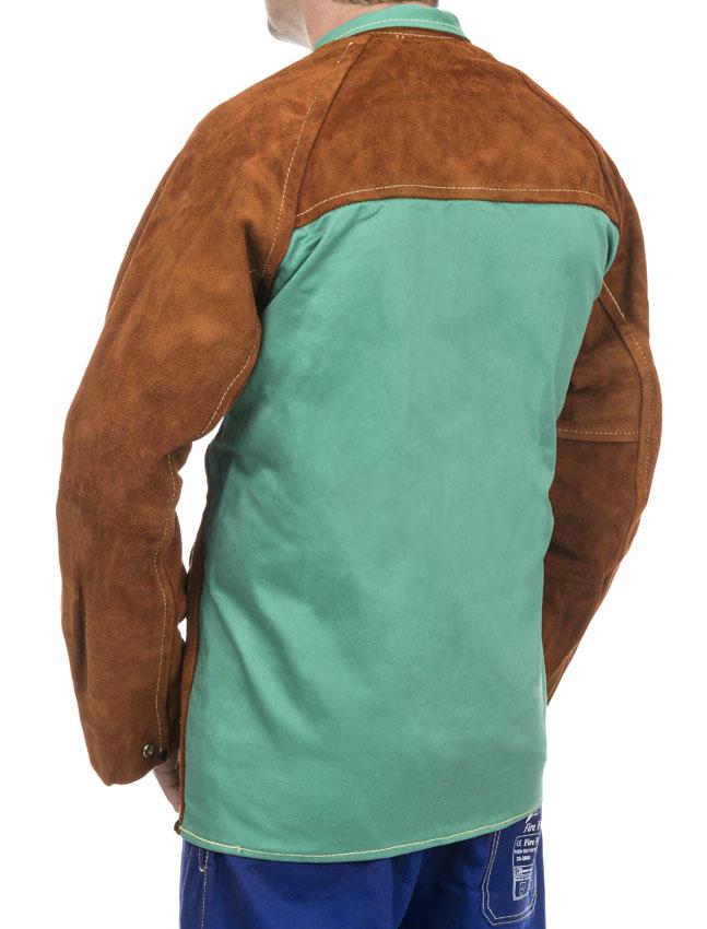 44-7300/P Lava Brown™ jachetă de sudură cu partea frontală din şpalt de vită şi partea dorsală din bumbac ignifug